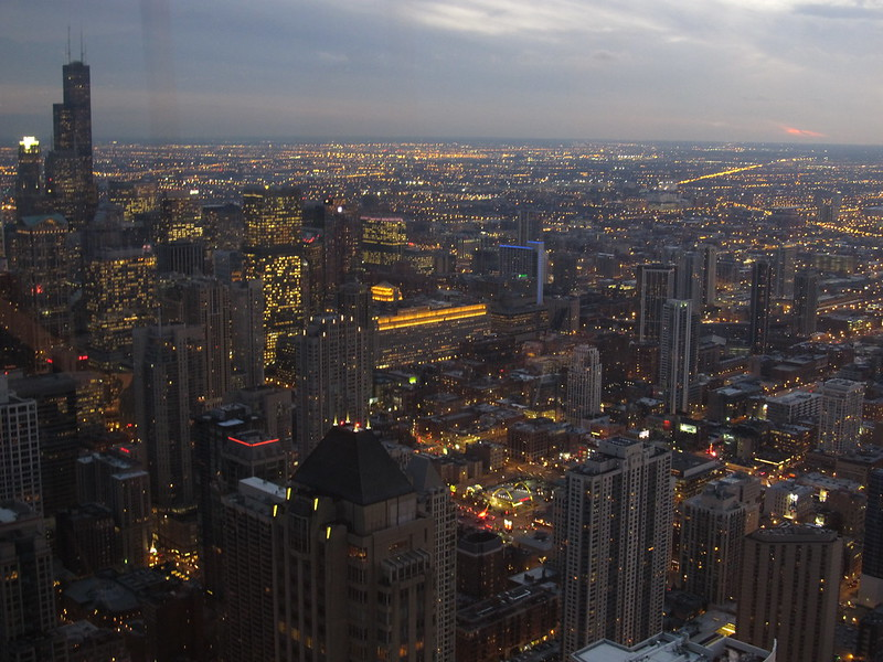 Looking West from John Hancock Center Observatory, Chicago, Illinois