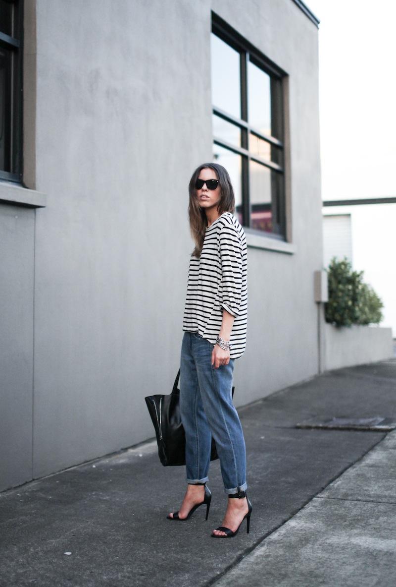 modern legacy fashion style blogger australia bassike french stripe boyfriend jeans tibi amber heels najo chain bracelet (1 of 1)