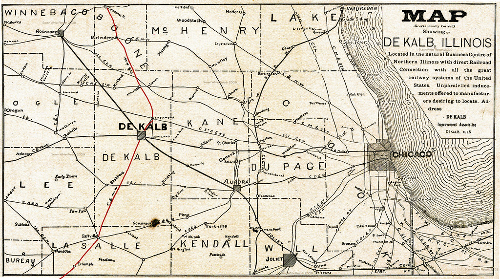Northern Illinois Railroad Route Map This Particular Map D Flickr