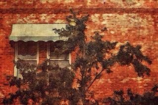 Red brick vignette