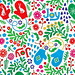 Joyful Winter Pattern - White (Detail)