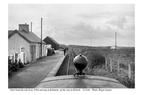 Kilmurry. View from cab of F502. 22.9.60