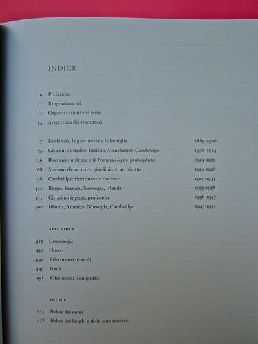 Michael Nedo (a cura di), Una biografia per immagini. Carocci 2013. Progetto grafico di Shoko Mugikura e Michael Nedo. Falcinelli & co. per l'ed. it. Indice (part.) 1