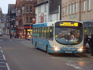 Arriva 40 service at Aberystwyth bus station