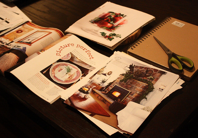 Making a Christmas Inspiration notebook