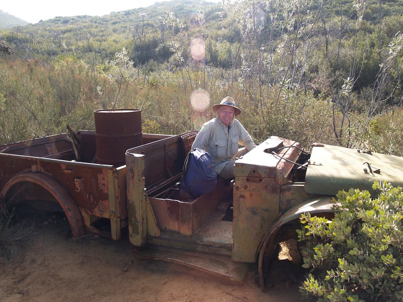 A very old abandoned truck on the El Cajon Mountain Trail