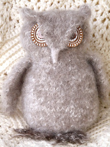 Knitted and Felted Woolly Owl
