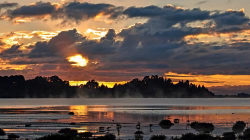 newzealand sunrise landscape nikon steam nz northisland bayofplenty ohiwaharbour nikond90