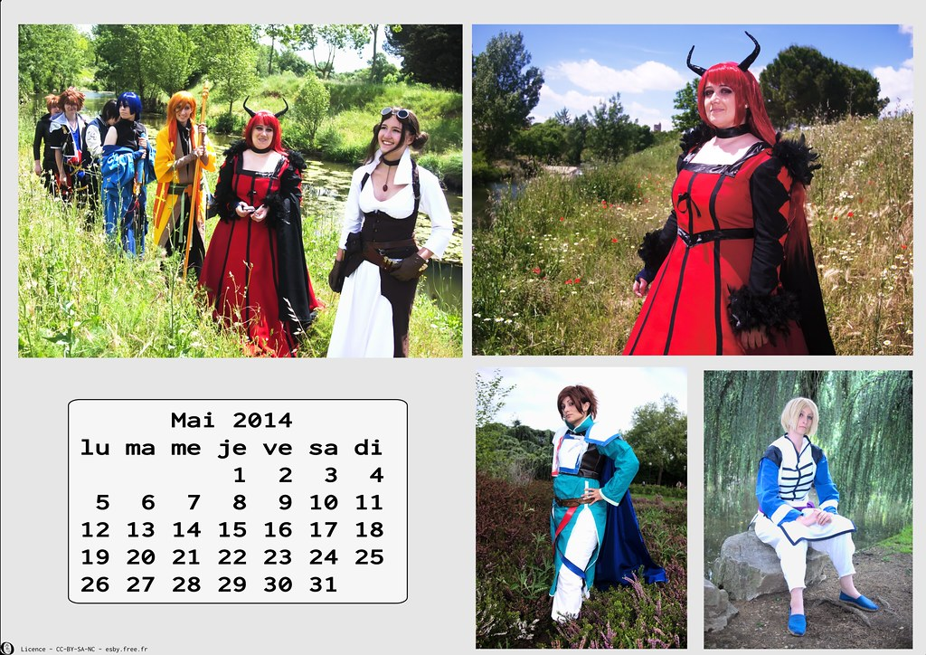 related image - Calendrier Cosplay 2014-05 - Mai