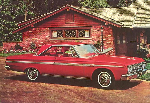 1964 Plymouth Sport Fury Hardtop Large Factory Postcard by Rickster G