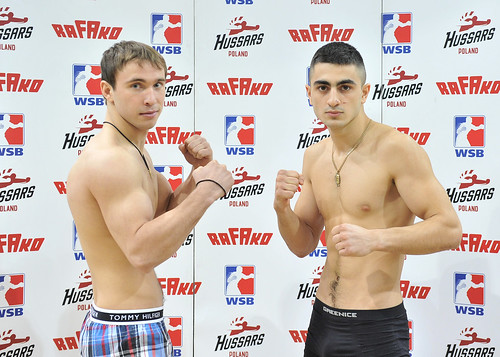 17/01/2014 Weigh In Hussars Poland vs Russian Boxing Team