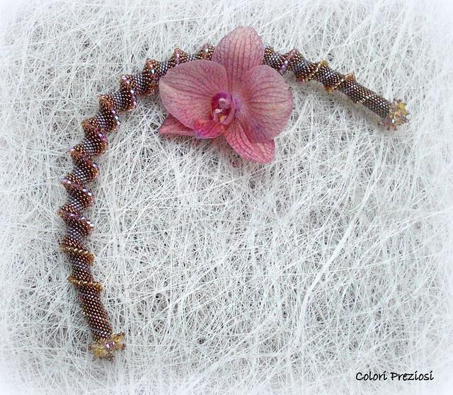 Spirale cellini - manico per bouquet a cascata
