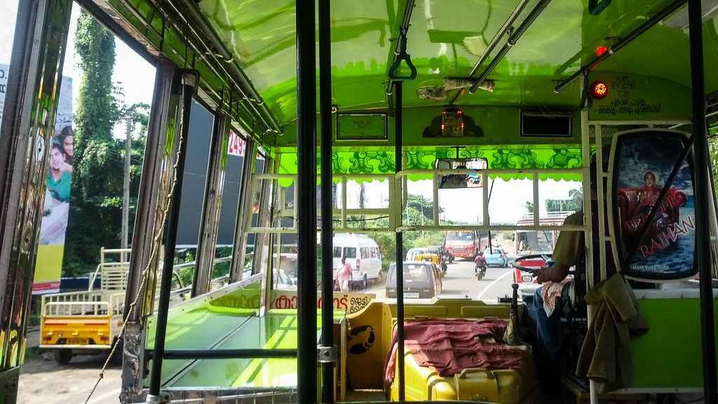 Bus ride to Fort Kochi