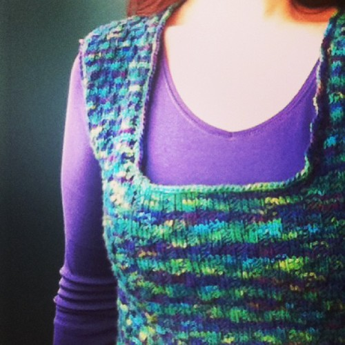 Sneak peek: lazaro vest completed. #mirasolcollection #hachoyarn #knitting #thistookforever