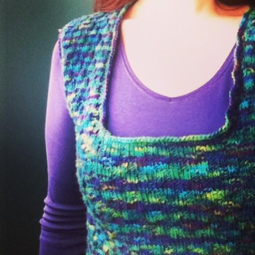 Sneak peek: lazaro vest completed. #mirasolcollection #hachoyarn #knitting #thistookforever