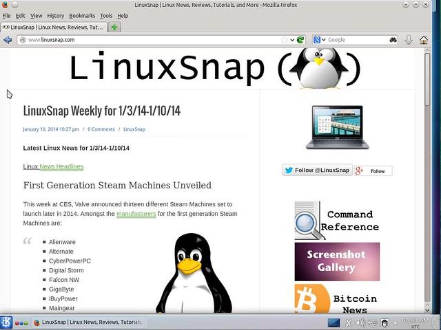 Kubuntu 14.04 Alpha 2 Firefox