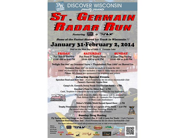St Germain Radar Run poster