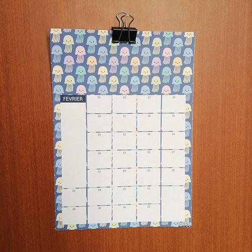 Free printable calendar : February