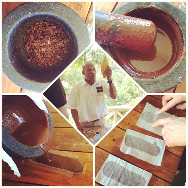 Hotel Chocolate making session by Cuthbert Monroque