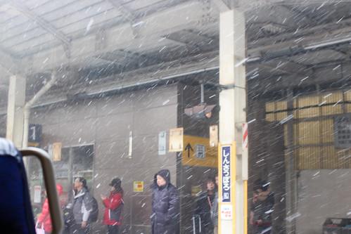 新札幌駅の雪の様子