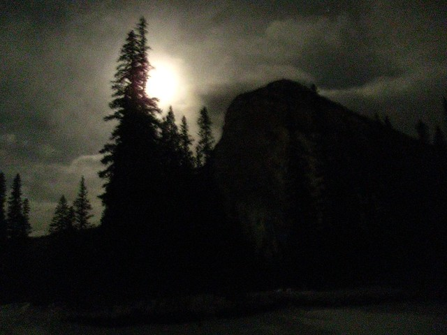 Banff in the dark.