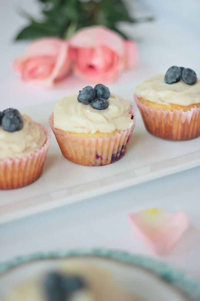 {blueberry cupcakes with maple-brown butter frosting}
