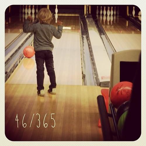 46/365: bowling boy #365daysoflittlehappiness