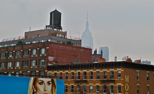 Eyes, Water Tower, Misty Empire State - NYC