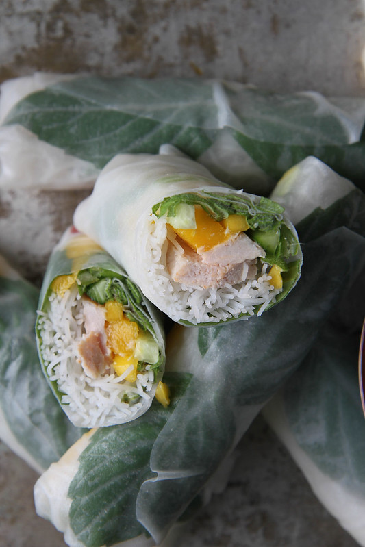 Mango and Pork Fresh Rolls