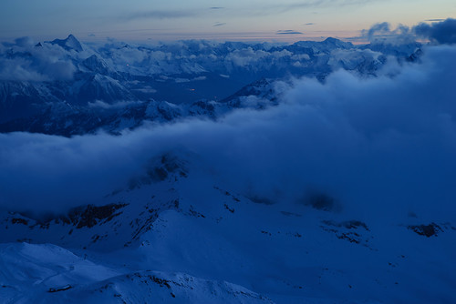 leica blue sunset sky italy panorama mountain alps night clouds lights sony adapter guide rifugio cervino hauteroute leitz a7r testagrigia teleelmarit90 ilce7r rifugioguidedecervino