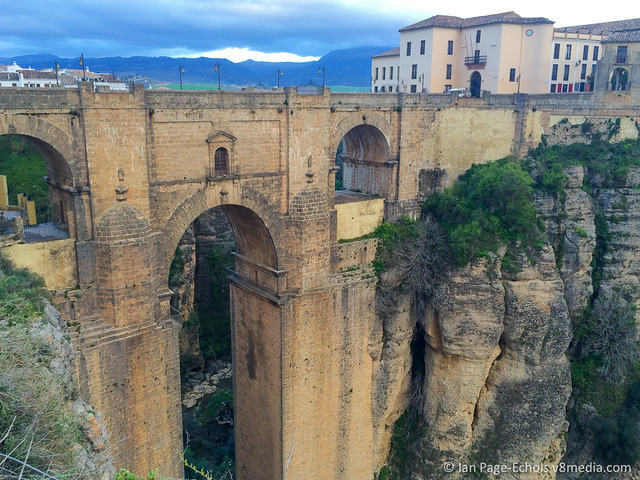 Ronda bridge with door