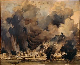Peter McIntyre, Air raid at Monte Cassino, February 1944