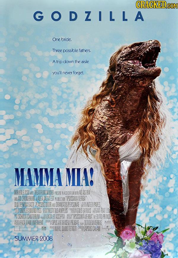 Godzilla em Mamma Mia!