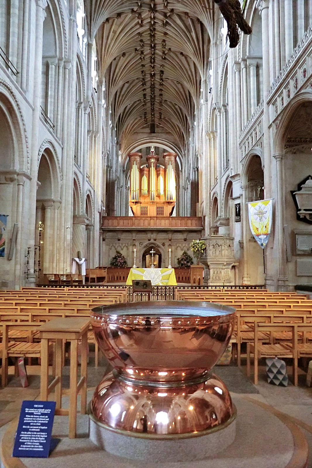 The font in Norwich Cathedral
