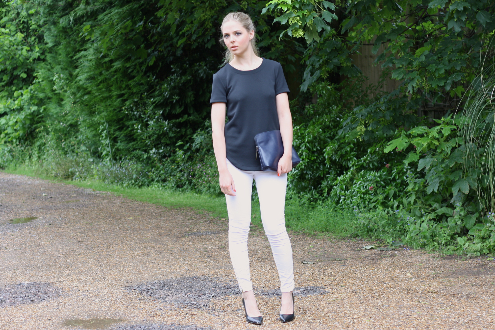 Zara white skinny jeans