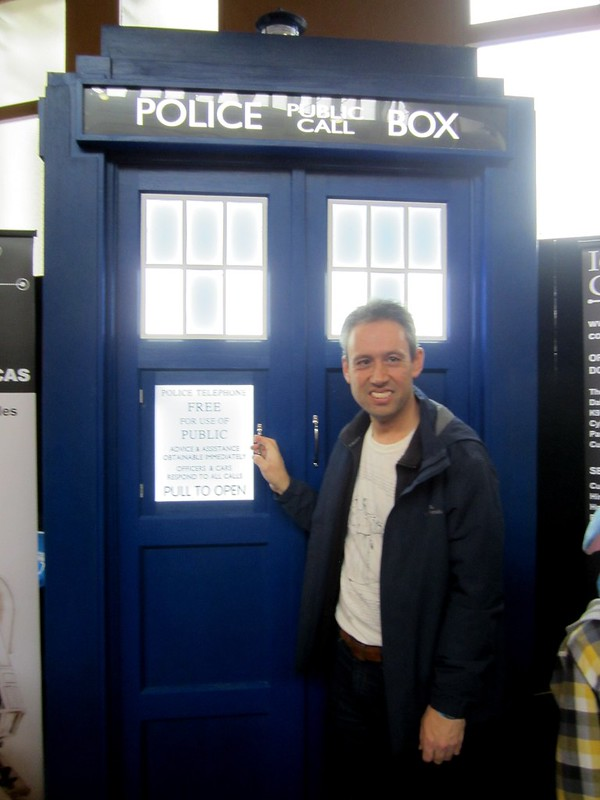 Daniel with a Police Box, at OzComicon 2014