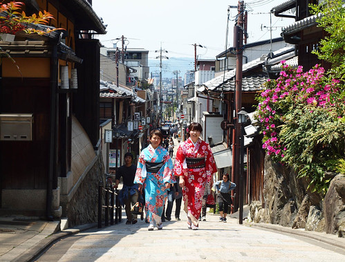 Yukata up the Hill
