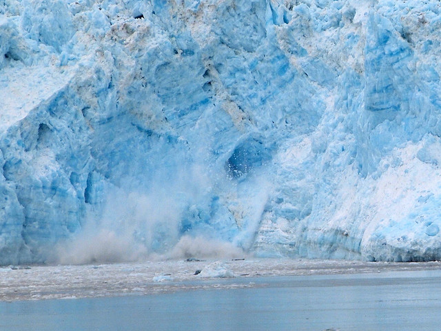Hubbard Glacier calving in Alaska