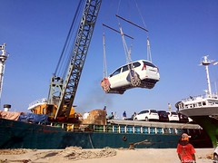 Cars Loaded Onto Ships
