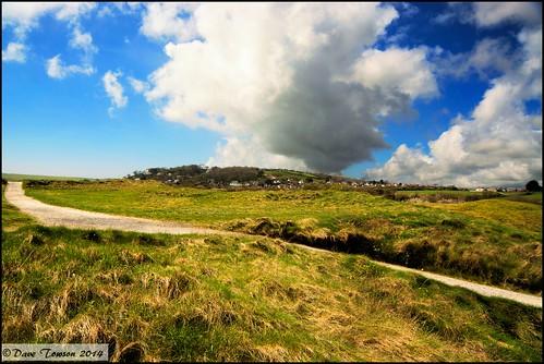 sky southwales wales clouds coast coastal golfcourse footpath pembrokeshire tenby penally