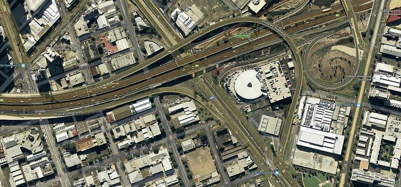 South Melbourne freeway interchange (Google Maps)