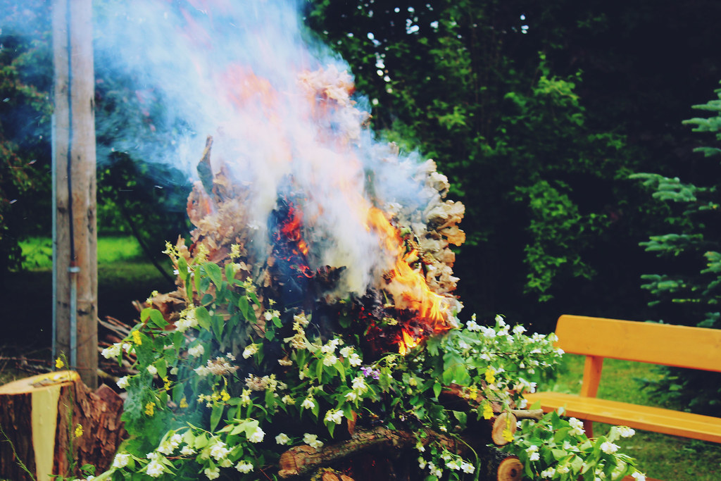 Midsummer-bonfire