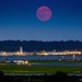 "The ""Super Moon"" rises over Reagan National Airport by joseph.gruber"