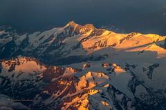 Sunrise over the Alps...somewhere over Austria