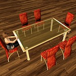 Modern Dining Table Set Ruby 3D Models