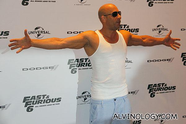 Vin Diesel striking a pose