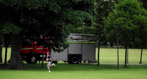the traditional race the fire engine round the park race