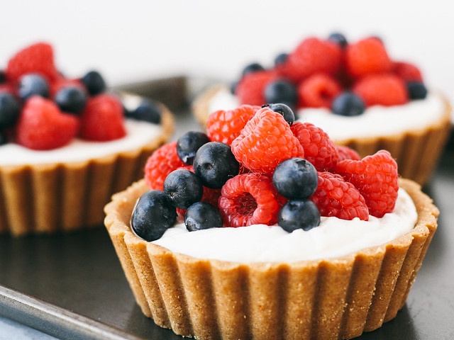 Berry orange cream tartlets