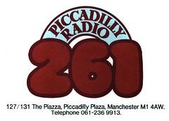Piccadilly Radio letterhead 1981