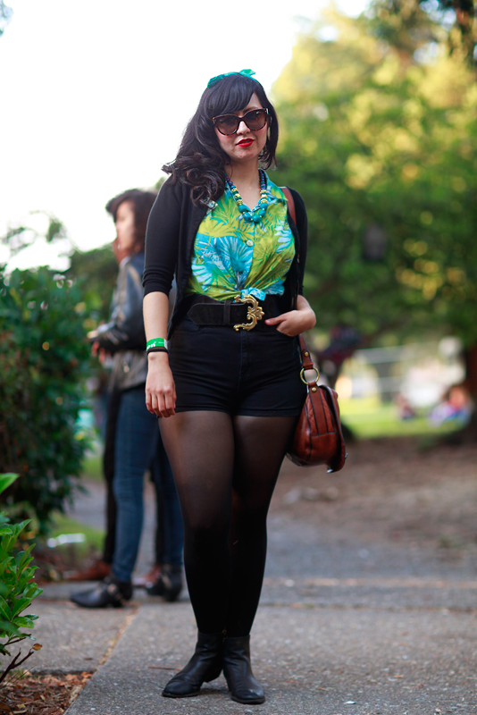 angela_bb street style, street fashion, women, Mosswood Park, Burger Boogaloo, Quick Shots